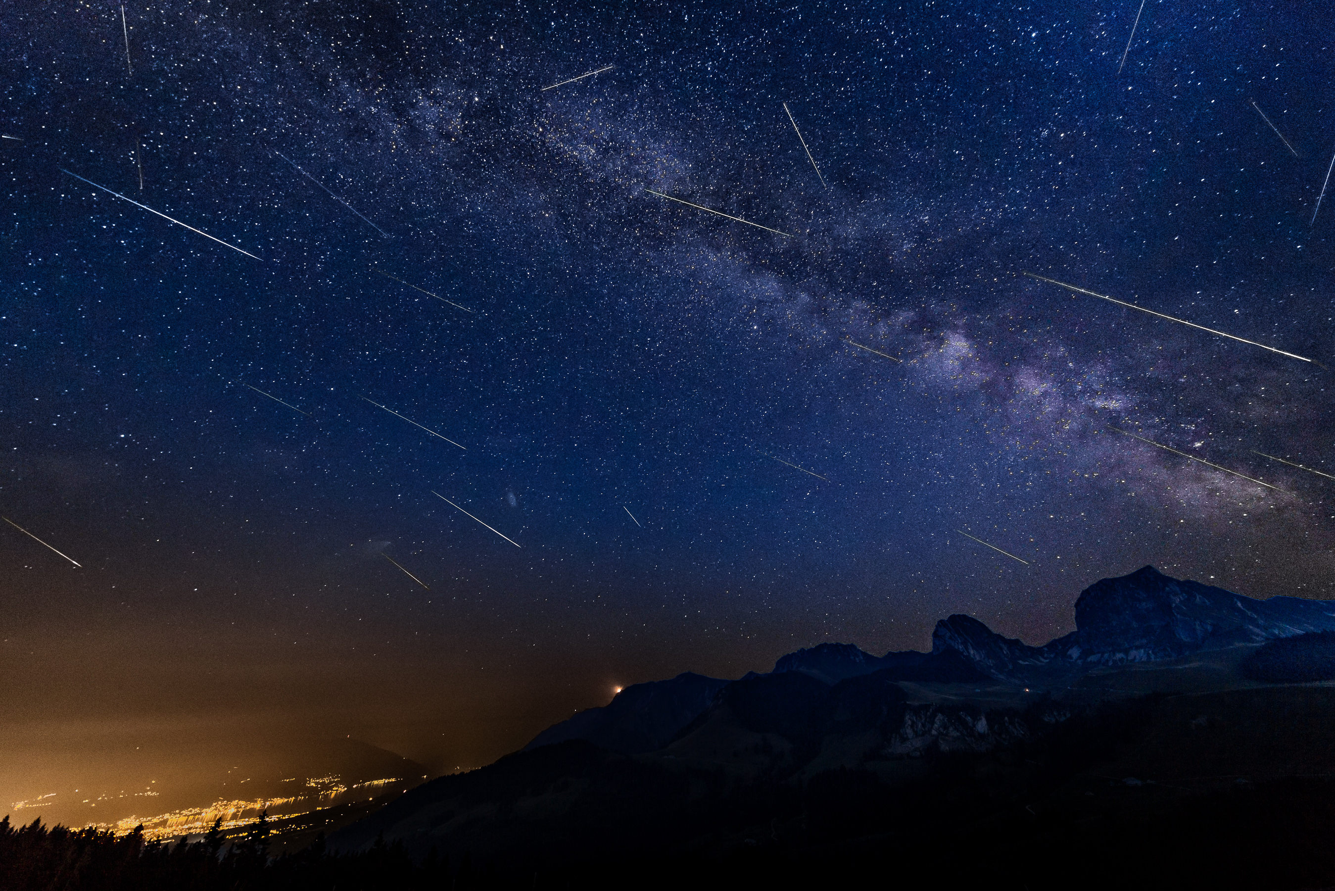 Perseids 2015 Gantrisch Switzerland