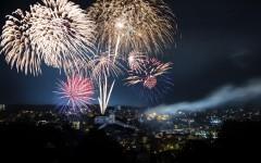 Fireworks Munot, Schaffhausen, Switzerland