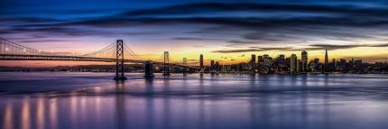 San Francisco with Bay Bridge