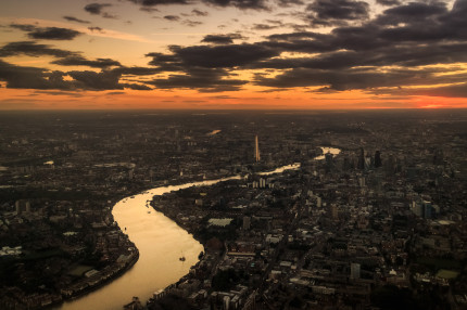 London with Themes River and The Shard