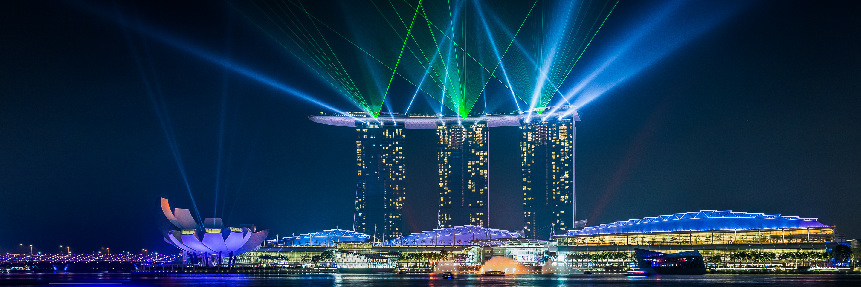Singapore Marina Bay Sands with Laser show