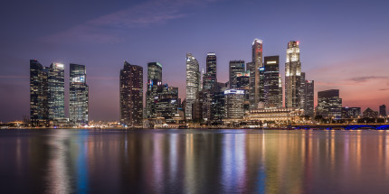 Singapore, downtown skyline