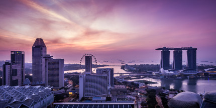 Singapore, Marina Bay Sands Hotel and Flyer