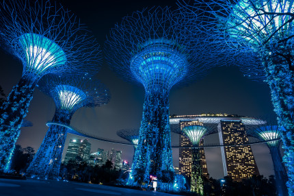 Singapore, Marina Bay Sands Hotel and Supertrees