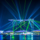 Singapore Marina Bay Sands Laser Show