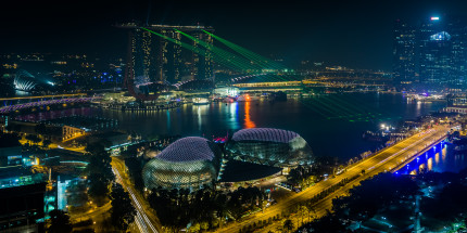 Singapore with Laser Show, view from the Swissôtel