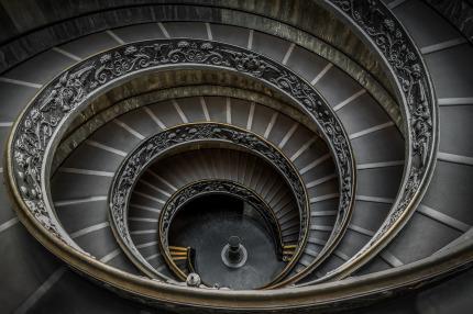 Spiral stairs Vatican Museum, Vatican City